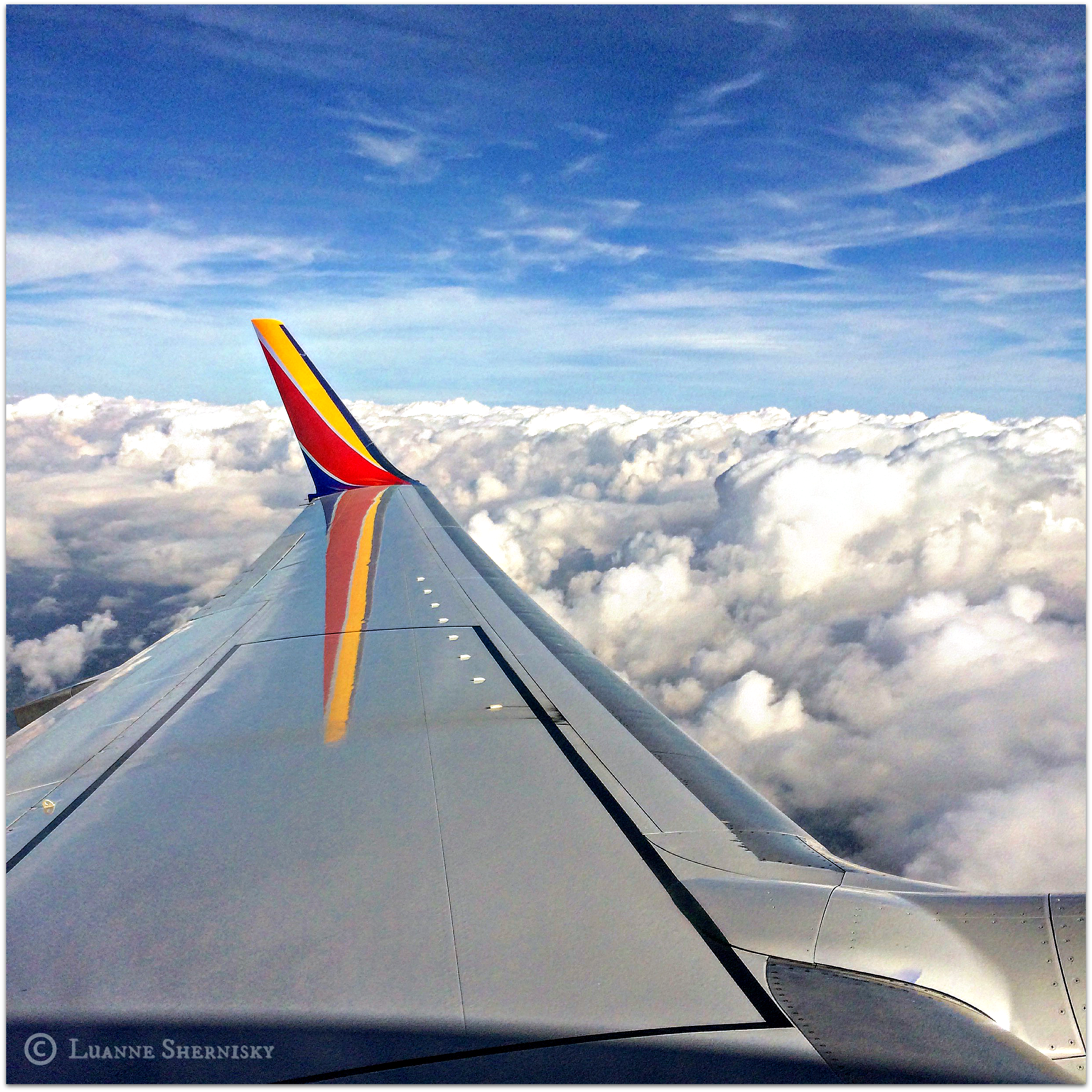 Wing of Southwest airplane