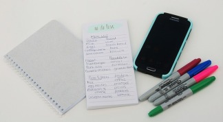To Do List, Notebook, iPhone, and markers