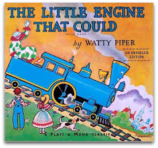 Front cover of children's book The Little Engine That Could