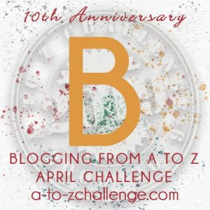 Logo 10th Anniversary Blogging A to Z Challenge - Letter B
